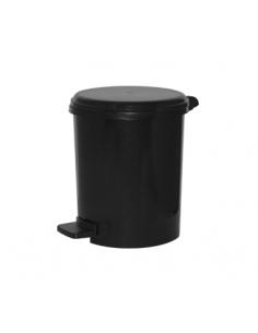 Cubo SRV Redondo Liso Pedal - 12L - Negro - PAB12NE
