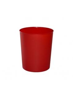 Cubo SRV Redondo Liso - 9L - Rojo - PAL9RO