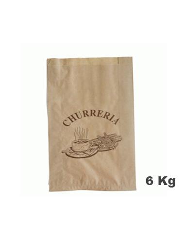 Bolsa Churro Kraft - 8 Kg - 30+10x39 1000 u.
